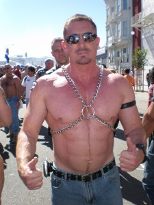 One of the hotties at Folsom 2007. If you look closely, he shaved in some abs.