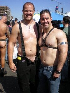 Out at Folsom with one of my friends from Dallas